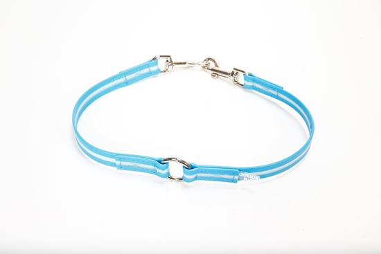 Julius-K9 IDC Lumino - Twin Leash, Blue