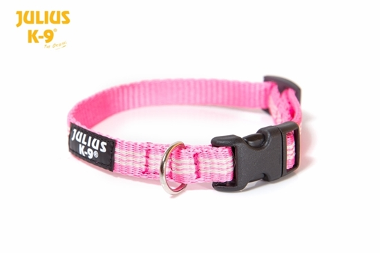 Julius-K9 IDC Tubular Webbing Collar - Pink, 14mm