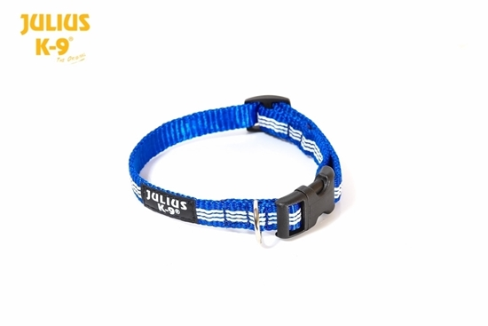 Julius-K9 IDC Tubular Webbing Collar - Blue, 14mm